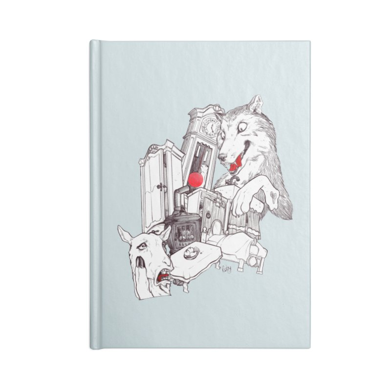 Wolf&7LittleGoats Accessories Lined Journal Notebook by roby's Artist Shop