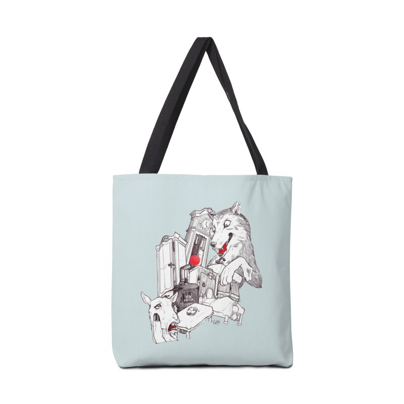 Wolf&7LittleGoats Accessories Tote Bag Bag by roby's Artist Shop