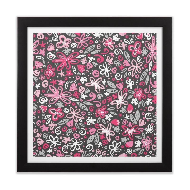 Springtime Floral Home Framed Fine Art Print by Robyriker Designs - Elishka Jepson