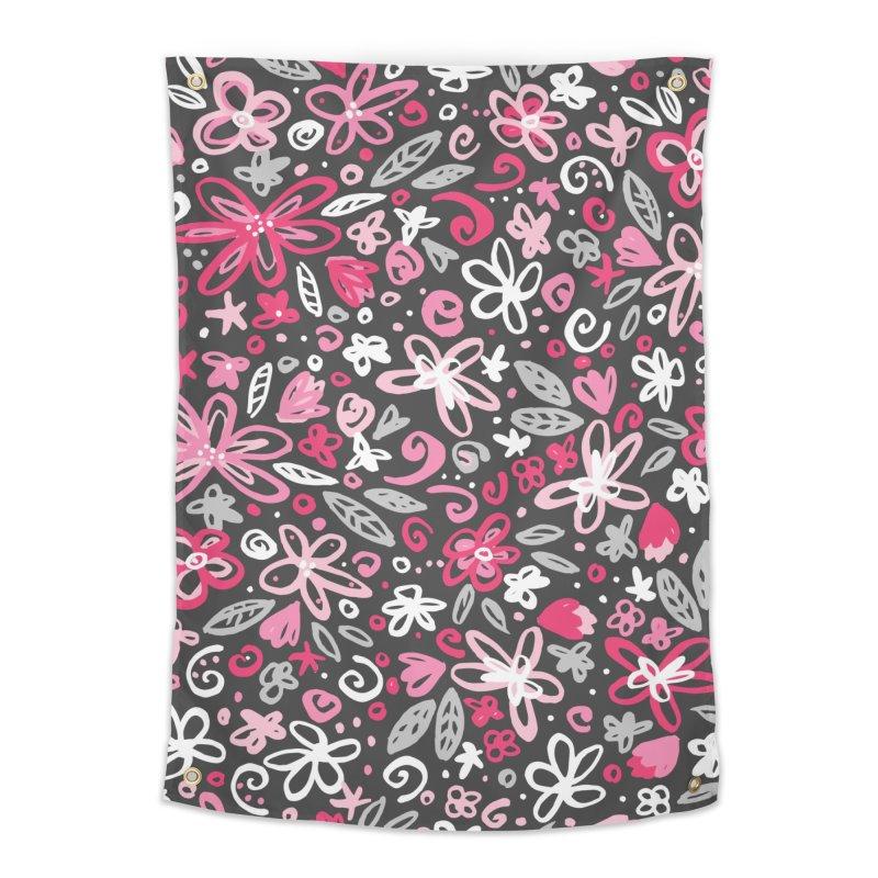 Springtime Floral Home Tapestry by Robyriker Designs - Elishka Jepson