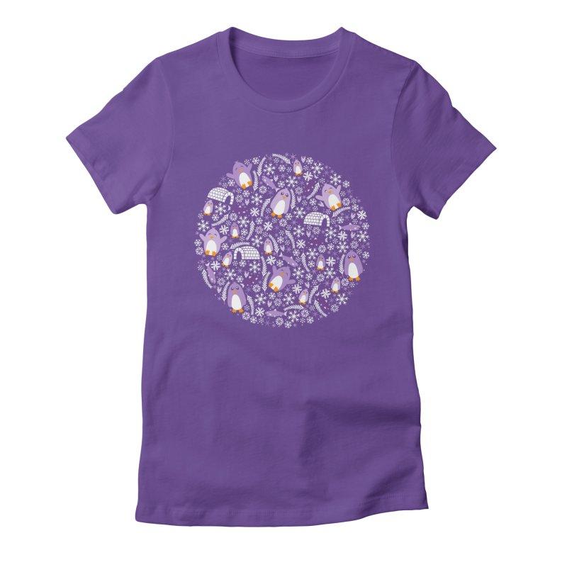 Penguin Wonderland Women's Fitted T-Shirt by Robyriker Designs - Elishka Jepson