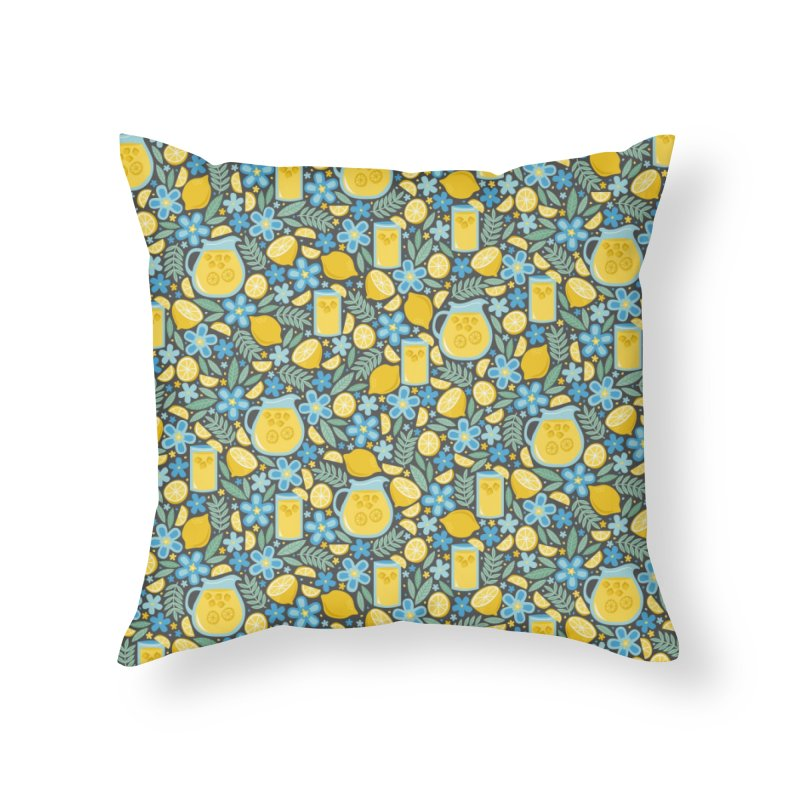 Lemonade Home Throw Pillow by Robyriker Designs - Elishka Jepson