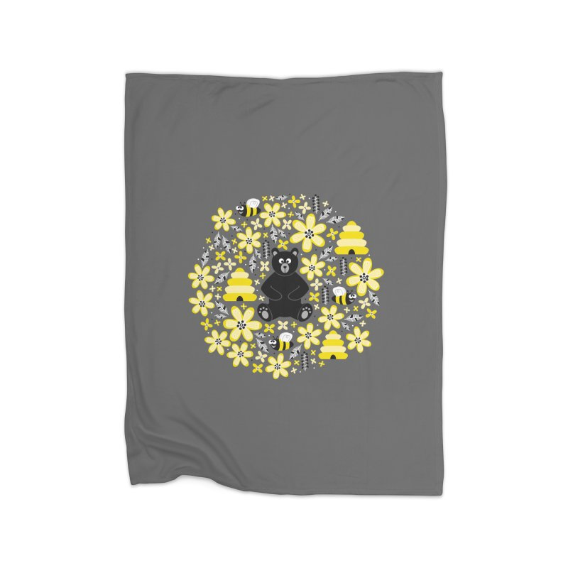 Bears and Bees Home Blanket by Robyriker Designs - Elishka Jepson
