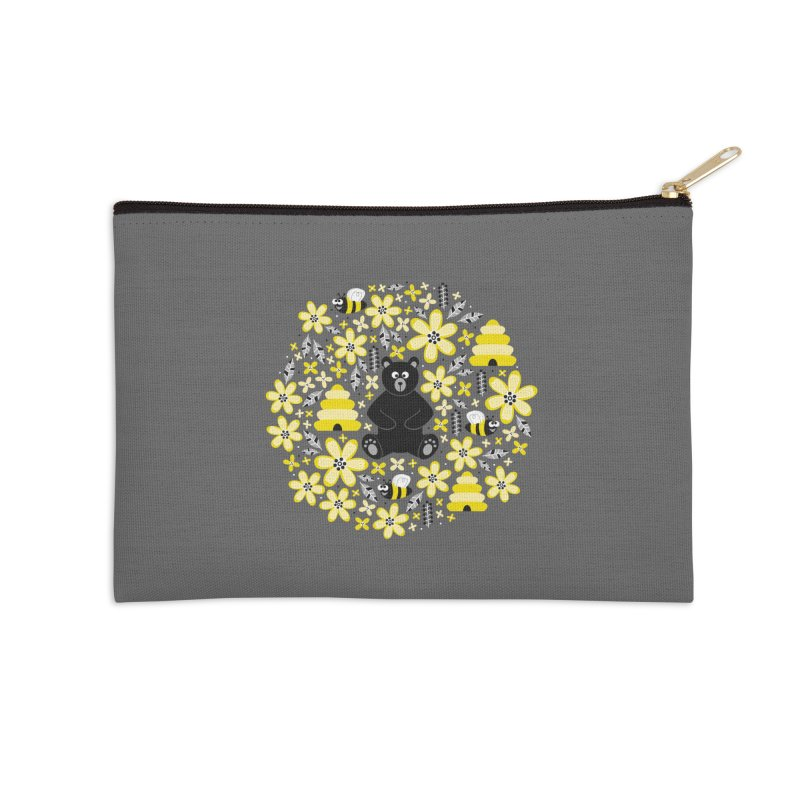 Bears and Bees Accessories Zip Pouch by Robyriker Designs - Elishka Jepson