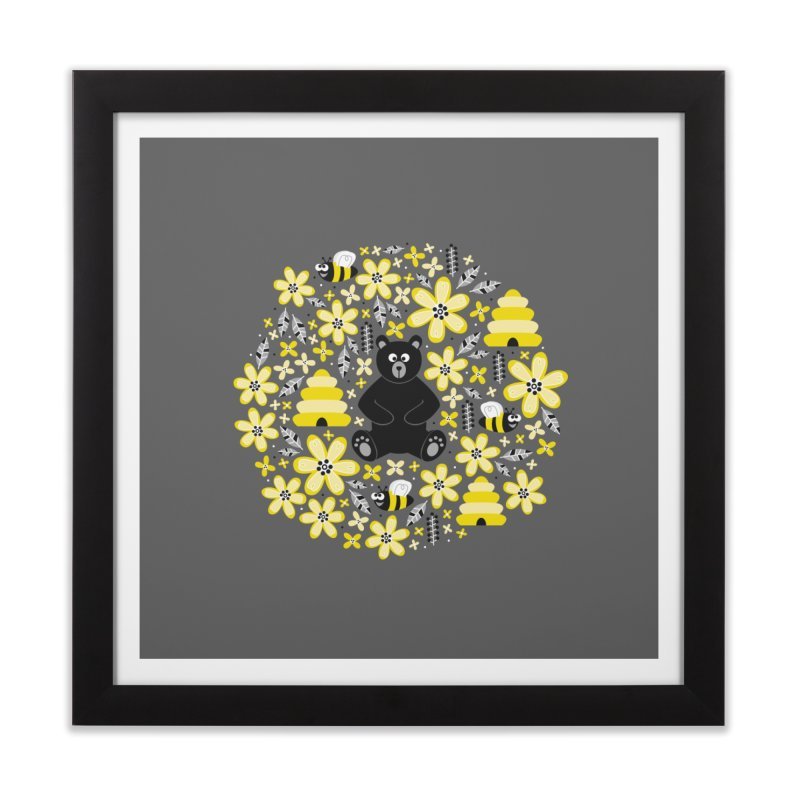 Bears and Bees Home Framed Fine Art Print by Robyriker Designs - Elishka Jepson