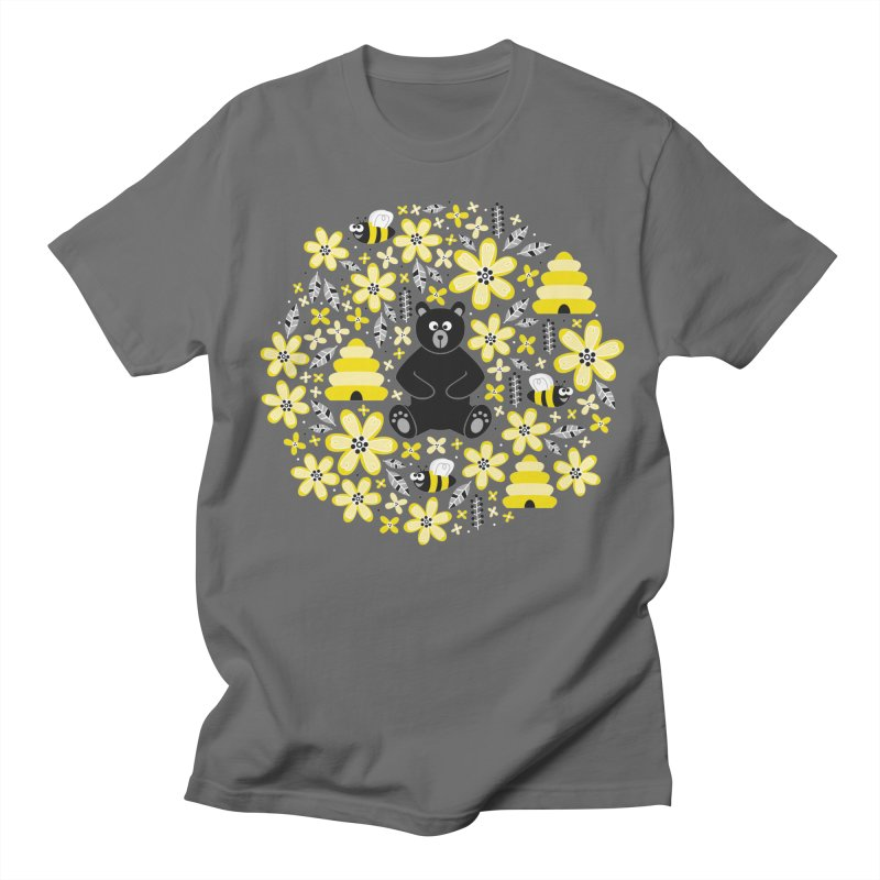 Bears and Bees Men's T-Shirt by Robyriker Designs - Elishka Jepson