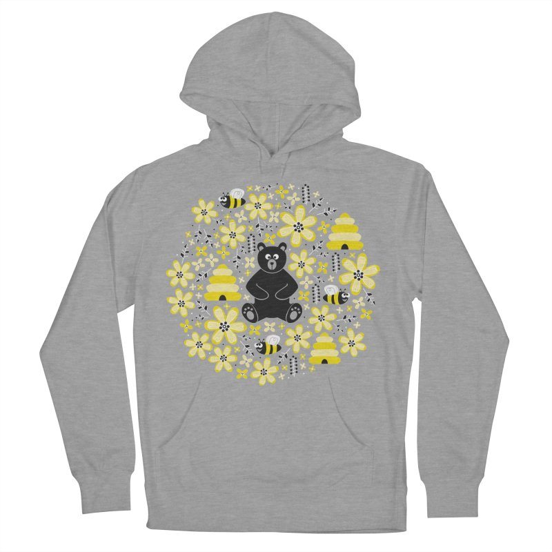 Bears and Bees Men's Pullover Hoody by Robyriker Designs - Elishka Jepson