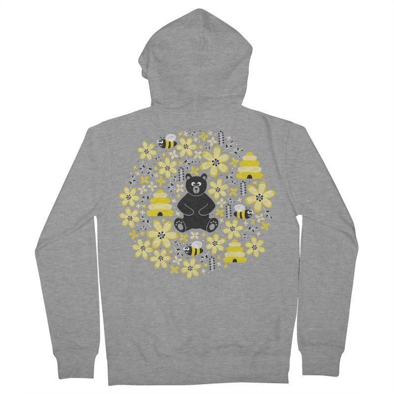 Bears and Bees Men's Zip-Up Hoody by Robyriker Designs - Elishka Jepson