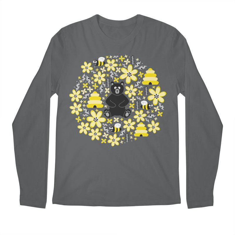 Bears and Bees Men's Longsleeve T-Shirt by Robyriker Designs - Elishka Jepson