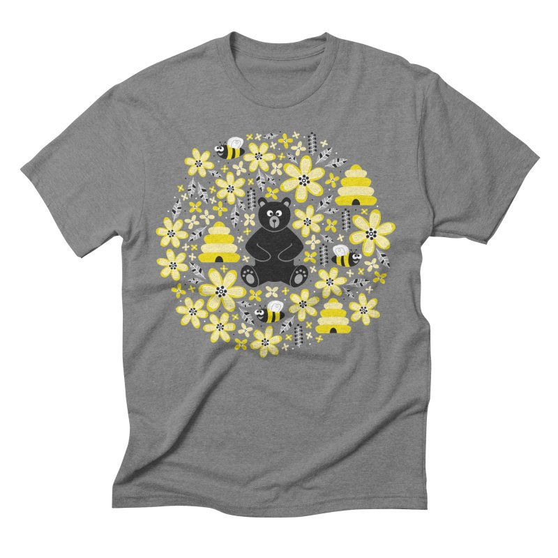 Bears and Bees Men's Triblend T-shirt by Robyriker Designs - Elishka Jepson