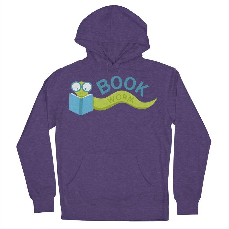 Book Worm Men's Pullover Hoody by Robyriker Designs - Elishka Jepson