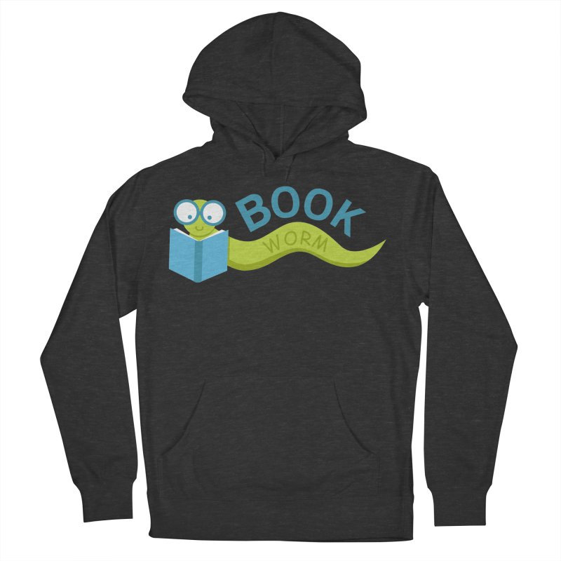 Book Worm Men's Pullover Hoody by Robyriker Designs - Elishka Jepson