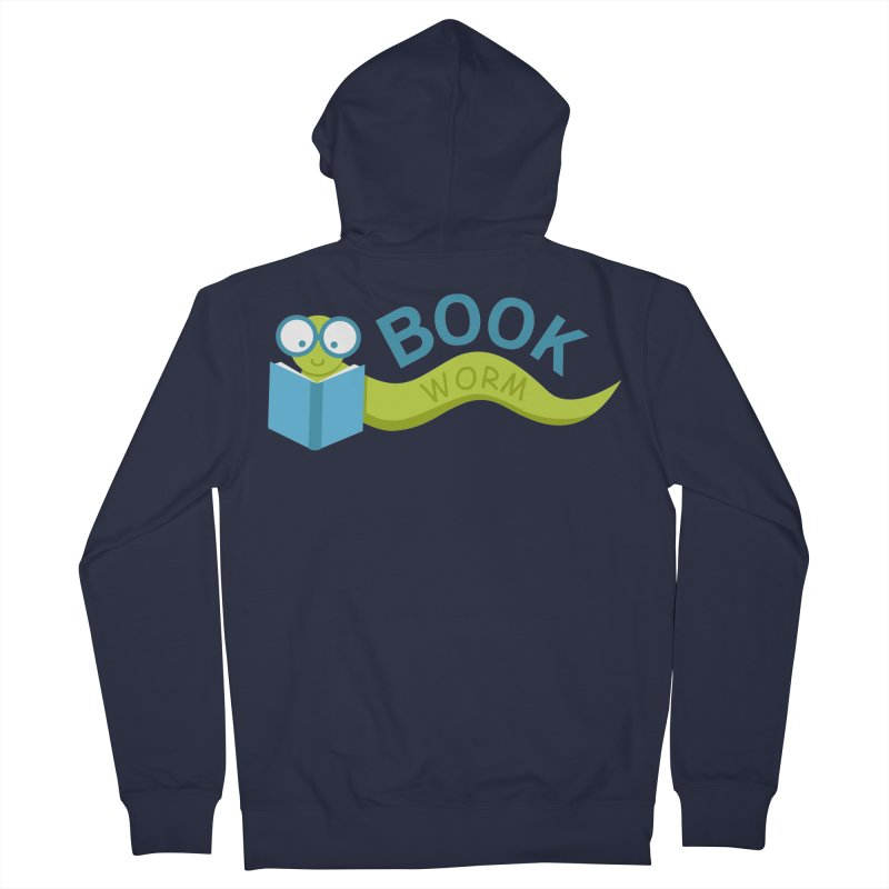 Book Worm Women's Zip-Up Hoody by Robyriker Designs - Elishka Jepson
