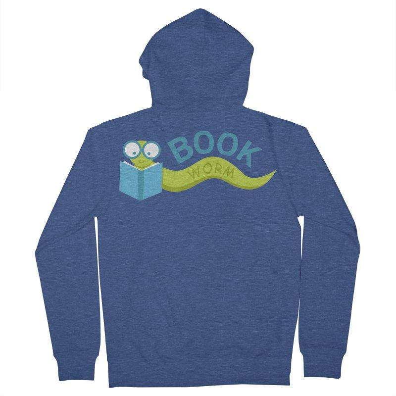 Book Worm Men's Zip-Up Hoody by Robyriker Designs - Elishka Jepson