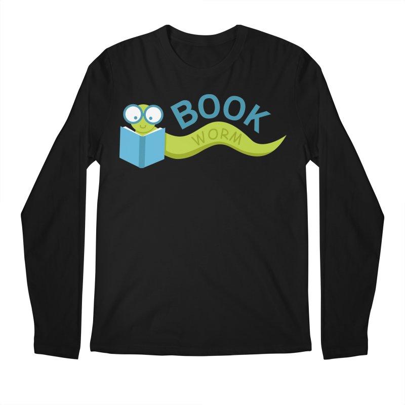 Book Worm Men's Longsleeve T-Shirt by Robyriker Designs - Elishka Jepson