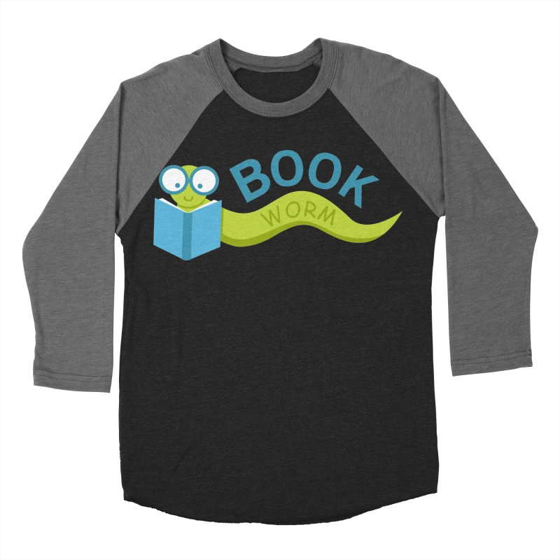 Book Worm Men's Baseball Triblend T-Shirt by Robyriker Designs - Elishka Jepson