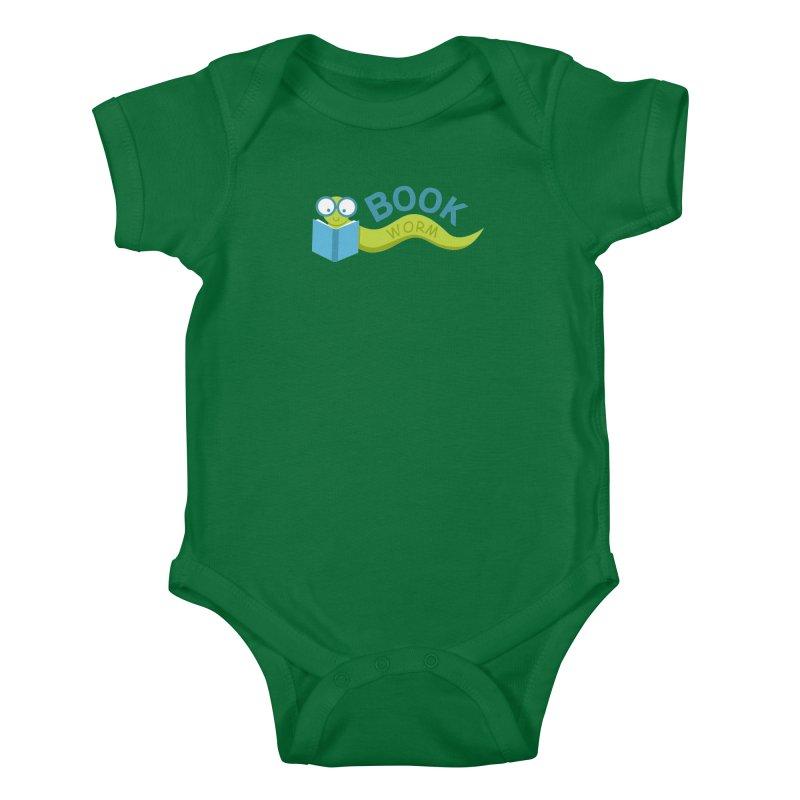 Book Worm Kids Baby Bodysuit by Robyriker Designs - Elishka Jepson