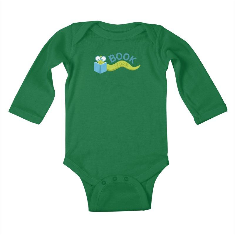 Book Worm Kids Baby Longsleeve Bodysuit by Robyriker Designs - Elishka Jepson