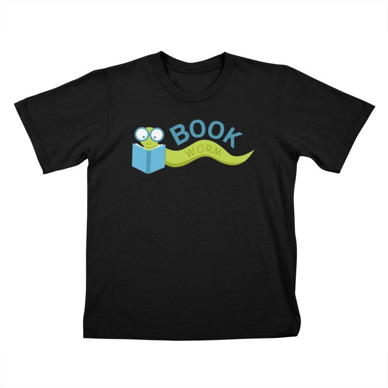 Book Worm Kids T-shirt by Robyriker Designs - Elishka Jepson
