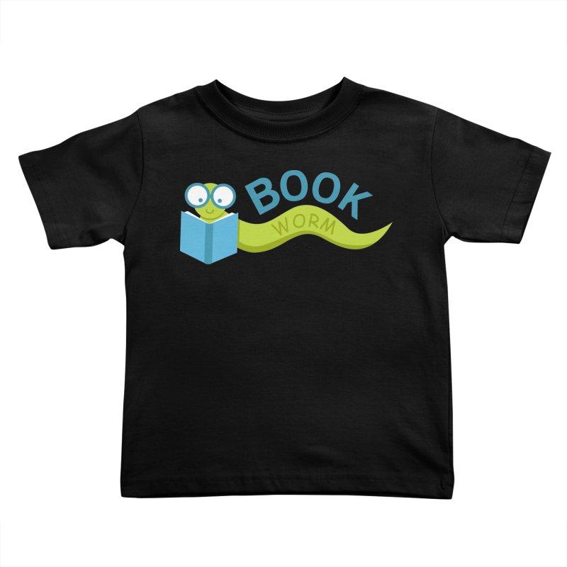 Book Worm Kids Toddler T-Shirt by Robyriker Designs - Elishka Jepson