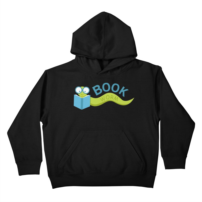 Book Worm Kids Pullover Hoody by Robyriker Designs - Elishka Jepson