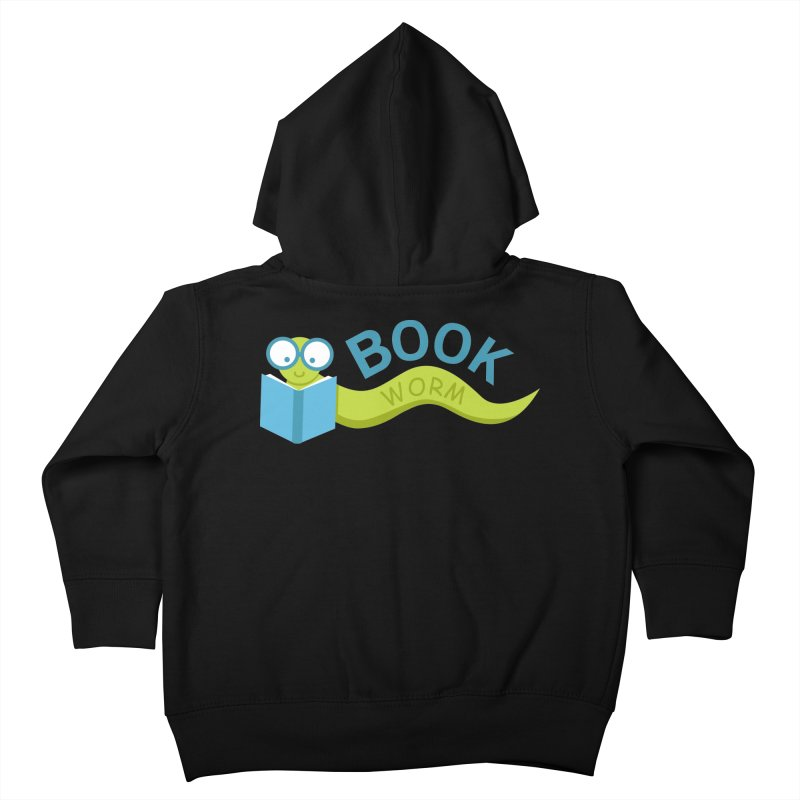Book Worm Kids Toddler Zip-Up Hoody by Robyriker Designs - Elishka Jepson