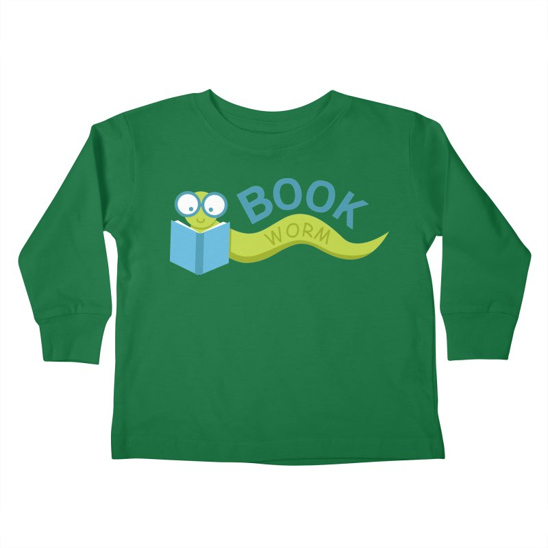 Book Worm Kids Toddler Longsleeve T-Shirt by Robyriker Designs - Elishka Jepson