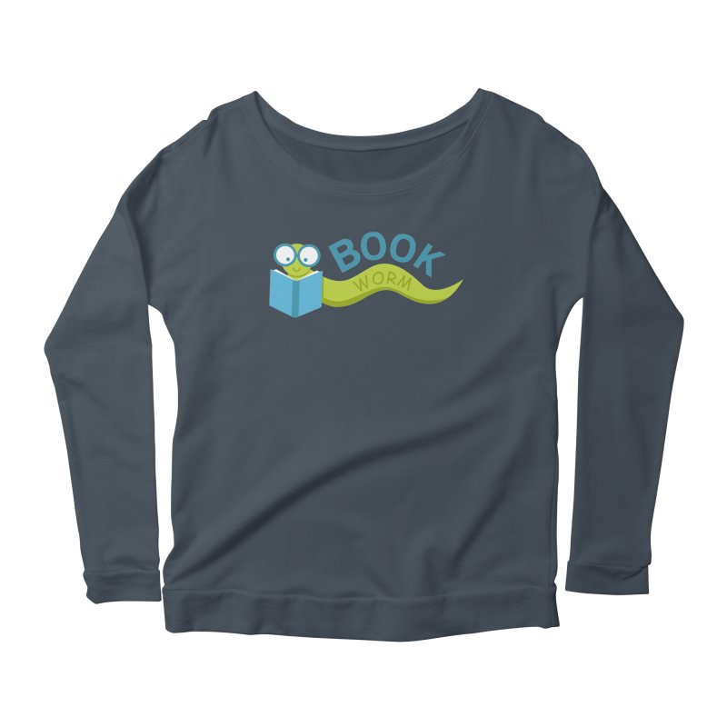 Book Worm Women's Longsleeve Scoopneck  by Robyriker Designs - Elishka Jepson