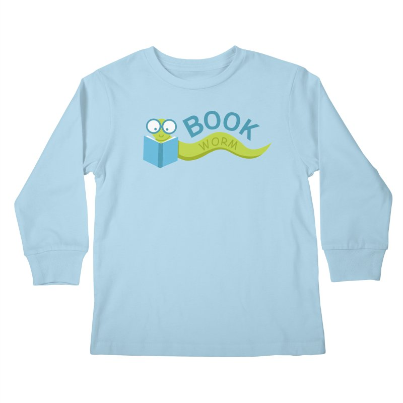 Book Worm Kids Longsleeve T-Shirt by Robyriker Designs - Elishka Jepson