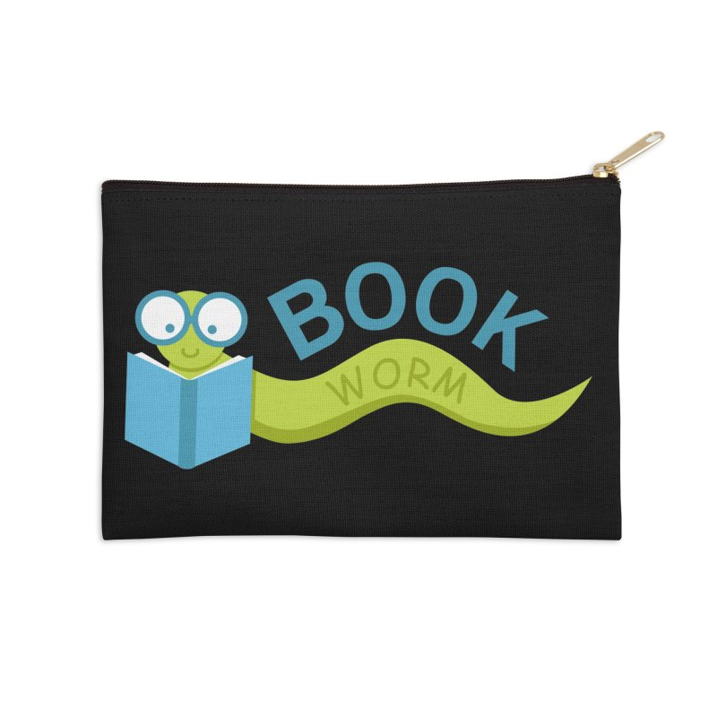 Book Worm Accessories Zip Pouch by Robyriker Designs - Elishka Jepson