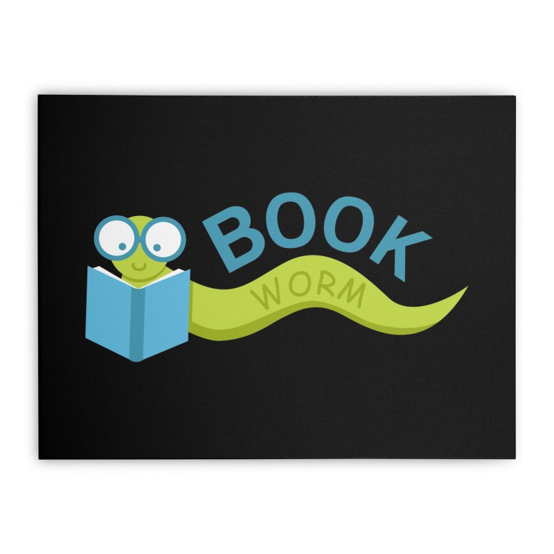 Book Worm Home Stretched Canvas by Robyriker Designs - Elishka Jepson
