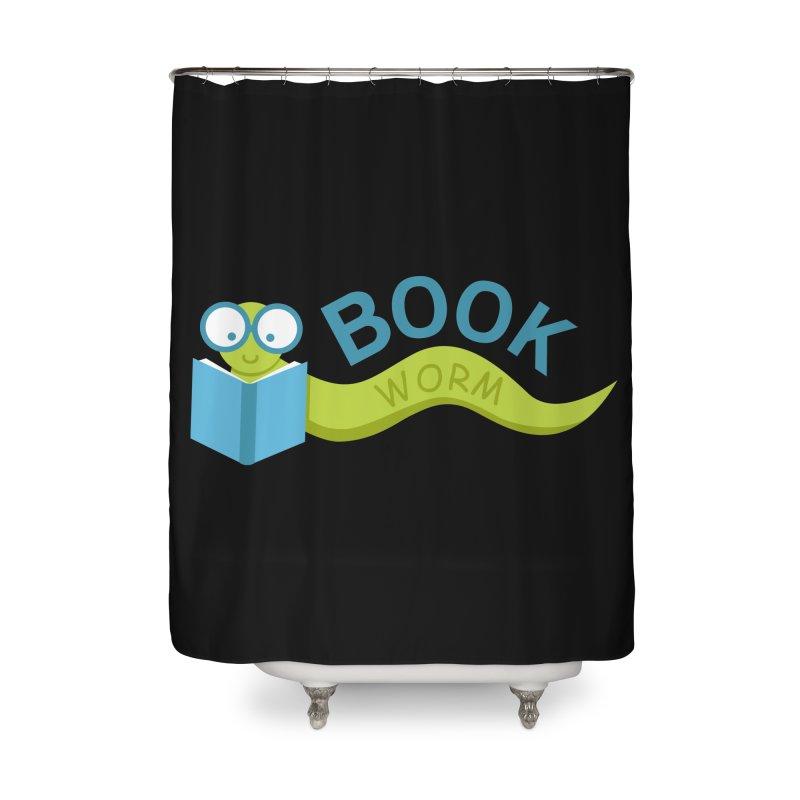 Book Worm Home Shower Curtain by Robyriker Designs - Elishka Jepson