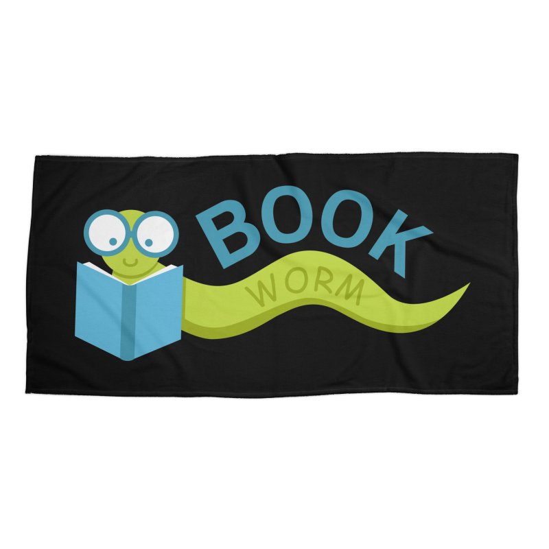 Book Worm Accessories Beach Towel by Robyriker Designs - Elishka Jepson