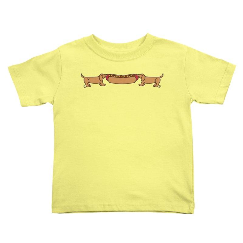 Hot Dog-O-War Kids Toddler T-Shirt by Robyriker Designs - Elishka Jepson