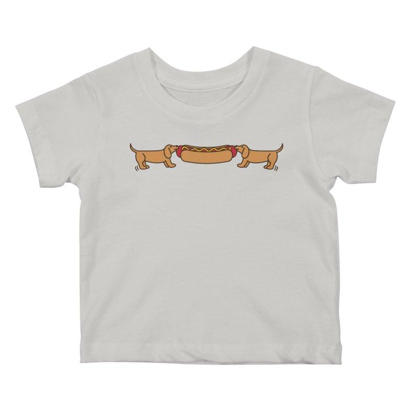 Hot Dog-O-War Kids Baby T-Shirt by Robyriker Designs - Elishka Jepson
