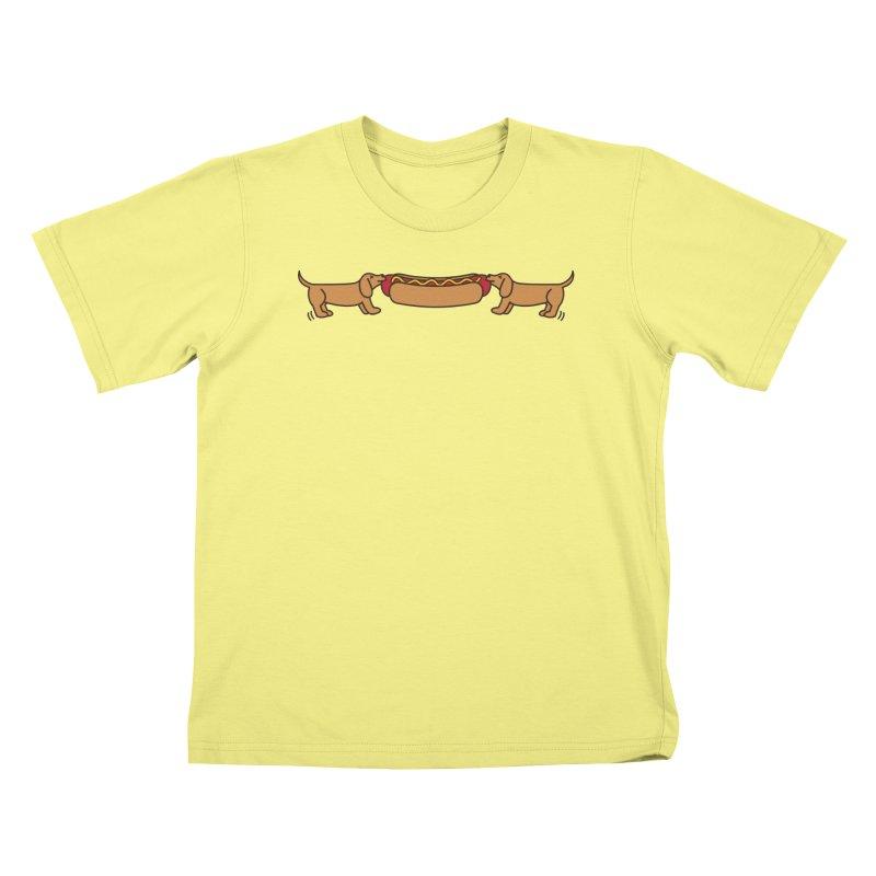 Hot Dog-O-War Kids T-shirt by Robyriker Designs - Elishka Jepson