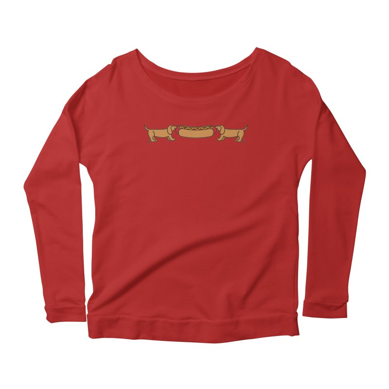 Hot Dog-O-War Women's Longsleeve Scoopneck  by Robyriker Designs - Elishka Jepson