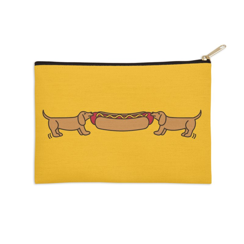 Hot Dog-O-War Accessories Zip Pouch by Robyriker Designs - Elishka Jepson