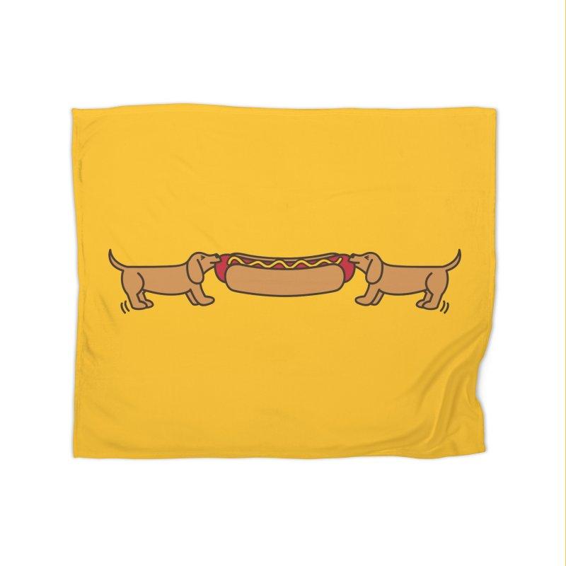 Hot Dog-O-War Home Blanket by Robyriker Designs - Elishka Jepson