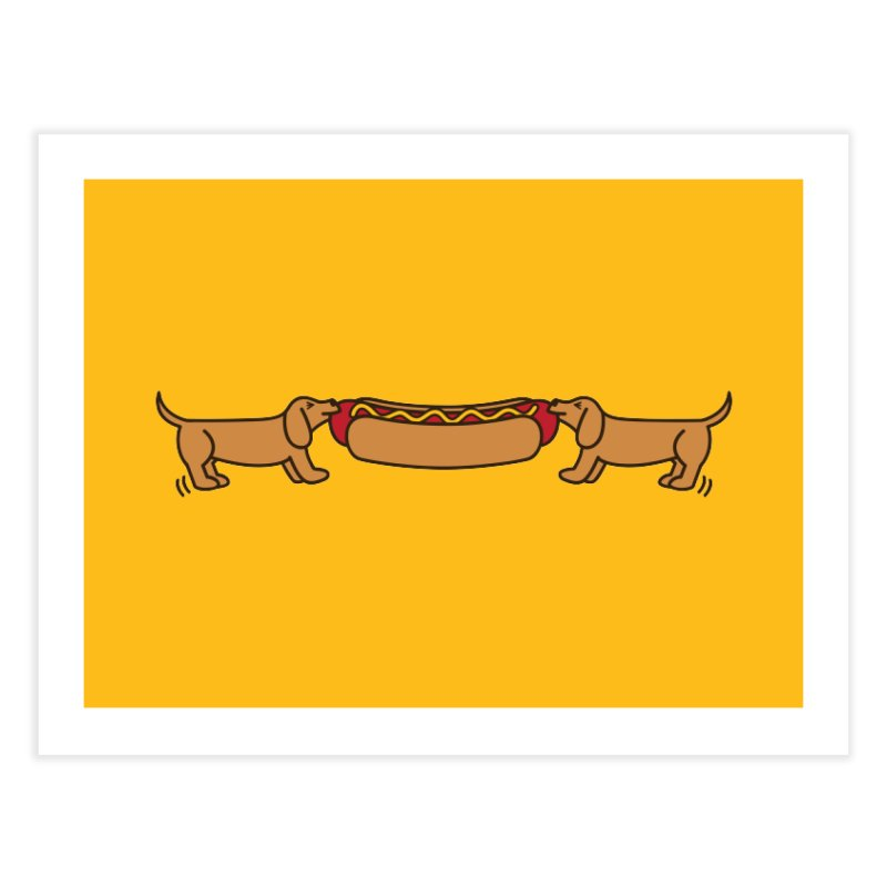Hot Dog-O-War Home Fine Art Print by Robyriker Designs - Elishka Jepson