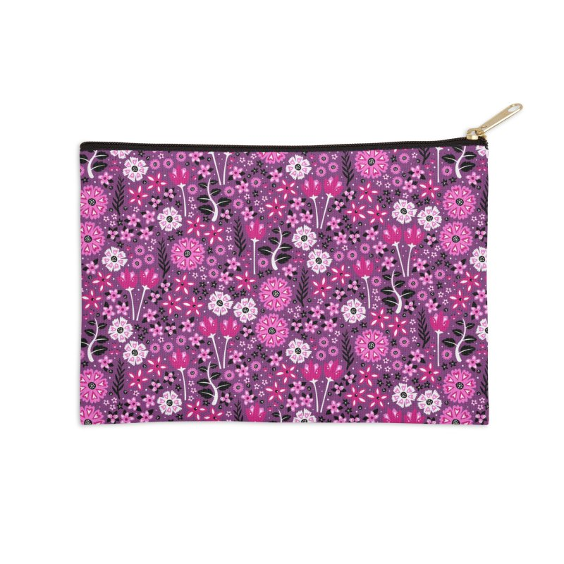 Spring Garden Accessories Zip Pouch by Robyriker Designs - Elishka Jepson