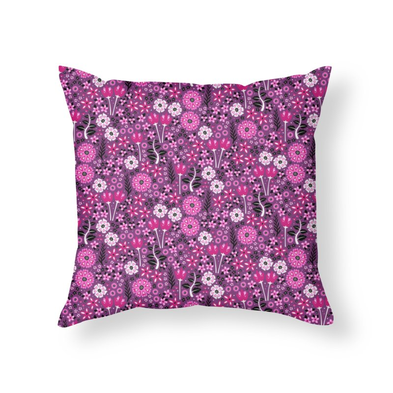 Spring Garden Home Throw Pillow by Robyriker Designs - Elishka Jepson