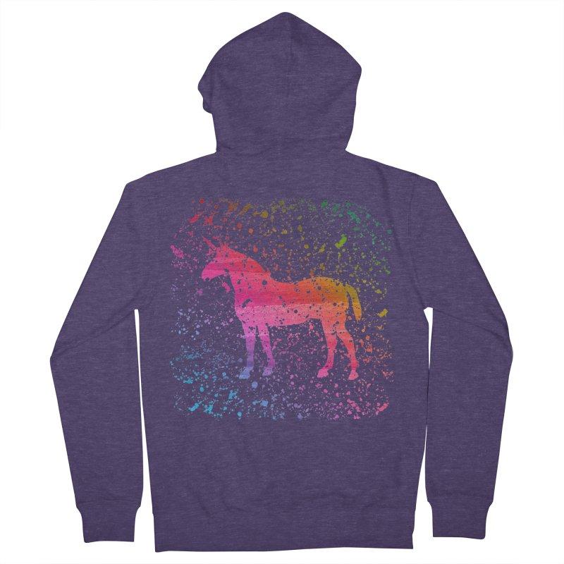 Unicorn Dreams Men's Zip-Up Hoody by Robyriker Designs - Elishka Jepson