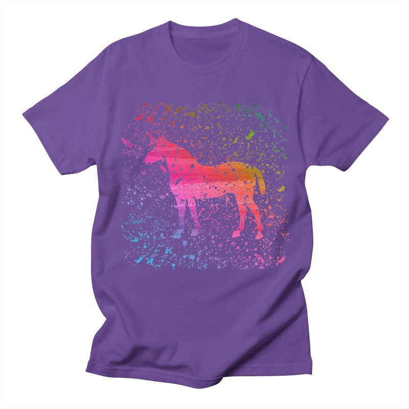Unicorn Dreams Men's T-Shirt by Robyriker Designs - Elishka Jepson