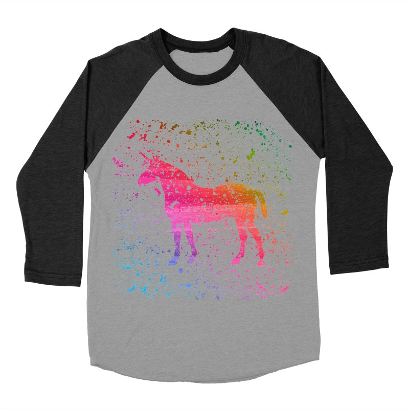 Unicorn Dreams Women's Baseball Triblend T-Shirt by Robyriker Designs - Elishka Jepson