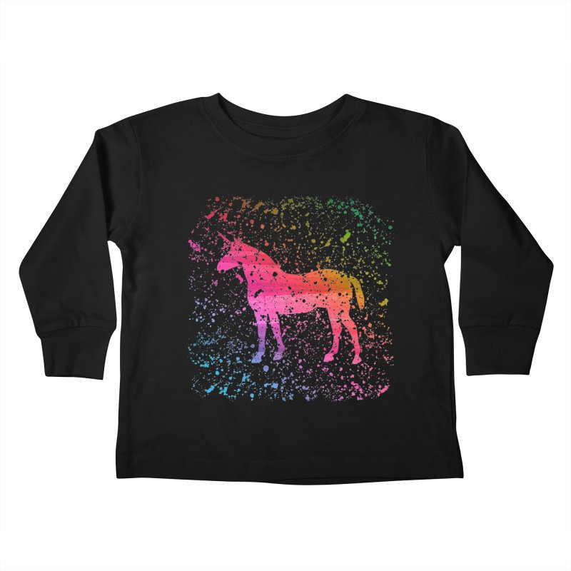 Unicorn Dreams Kids Toddler Longsleeve T-Shirt by Robyriker Designs - Elishka Jepson