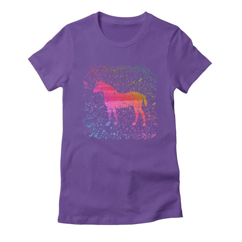 Unicorn Dreams Women's Fitted T-Shirt by Robyriker Designs - Elishka Jepson