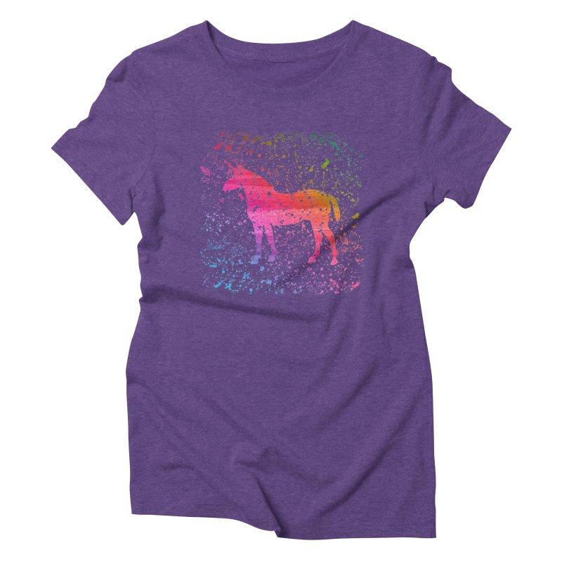 Unicorn Dreams Women's Triblend T-shirt by Robyriker Designs - Elishka Jepson