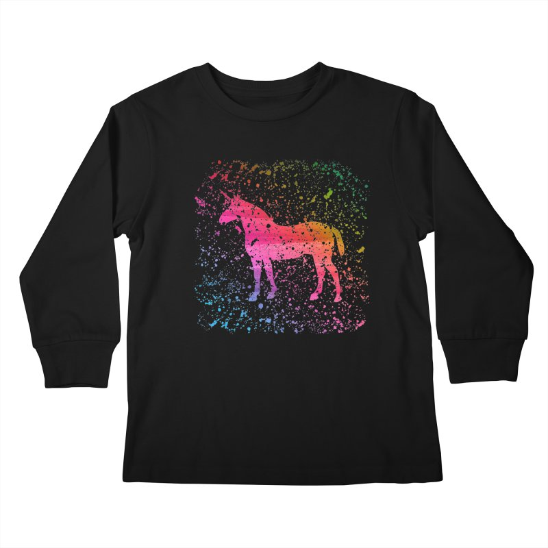 Unicorn Dreams Kids Longsleeve T-Shirt by Robyriker Designs - Elishka Jepson