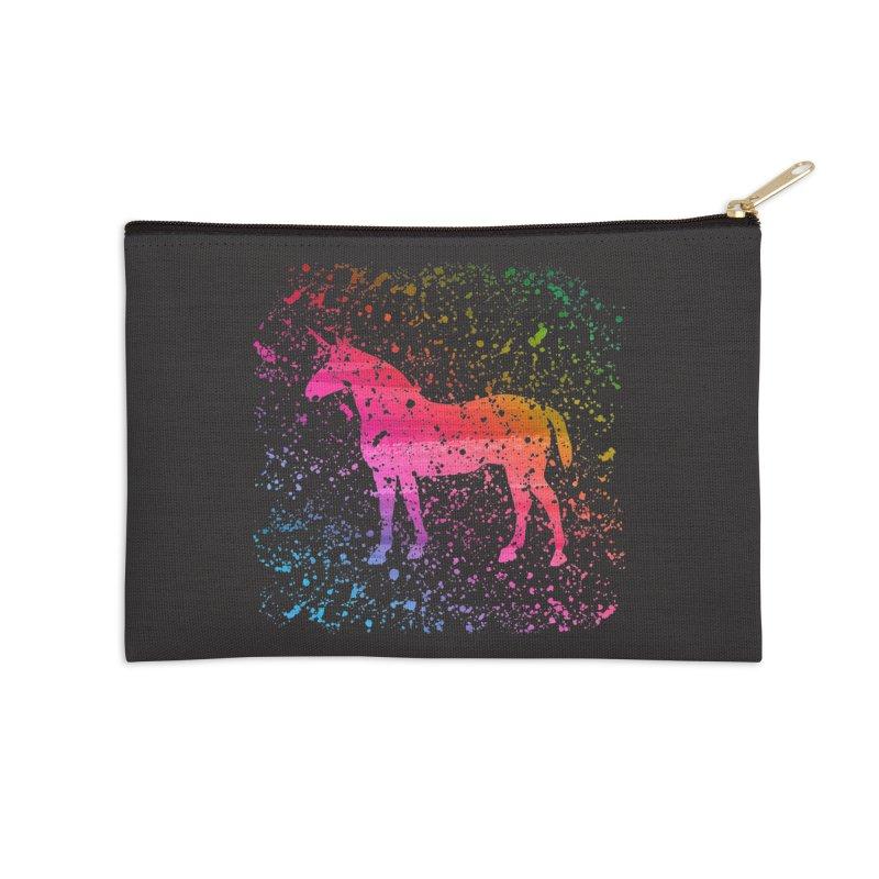 Unicorn Dreams Accessories Zip Pouch by Robyriker Designs - Elishka Jepson